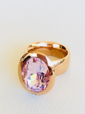 Lizas Ring rose-gold-coloured-light pink stainless steel