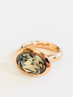 Lizas Ring rose-gold-coloured-grey stainless steel