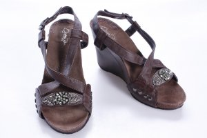 Platform High-Heeled Sandal black brown-silver-colored