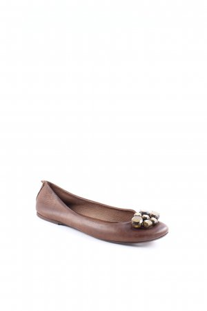 Queen Shoes Ballerinas brown classic style