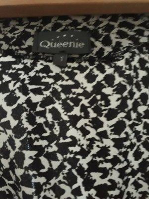 Robe chemisier blanc-noir polyester