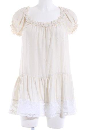 Queenie Longshirt hellgelb Streifenmuster Elegant