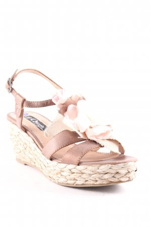 Queens Wedges Sandaletten mehrfarbig Romantik-Look