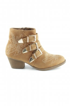 Queentina Ankle Boots camel-goldfarben Casual-Look