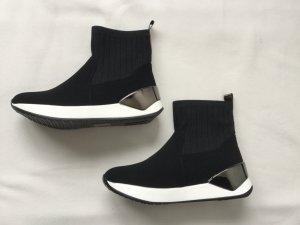 QUEENTINA Sneakers Sockshoes Gr. 39 schwarz mit weiß NEU NP 89,95