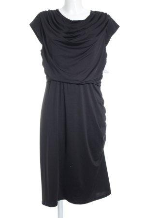 Queenus Stretch jurk zwart simpele stijl