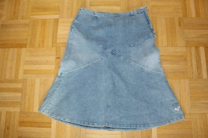 Quicksilver Denim Skirt pale blue cotton