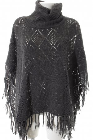 Quicksilver Poncho anthrazit Lochstrickmuster Street-Fashion-Look