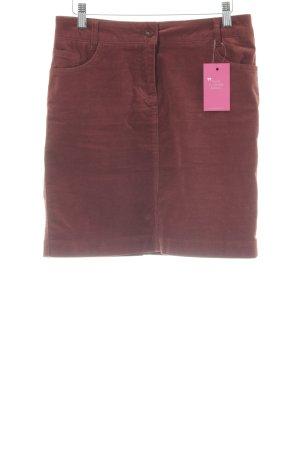 Quiero Minirock braunrot-karminrot Brit-Look