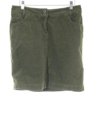 Quiero Minirock waldgrün-khaki Brit-Look