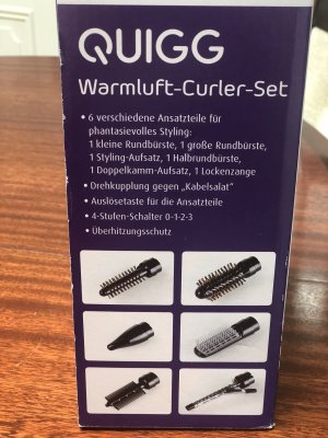 QUIGG Warmluft-Curler-Set