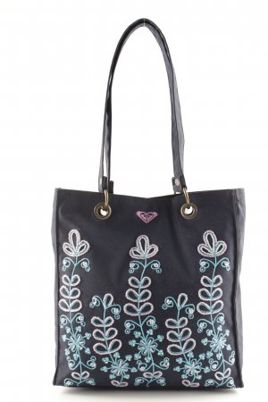 Quiksilver Carry Bag dark blue floral pattern extravagant style
