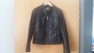 Quilt Trim Leather Scuba Jacket
