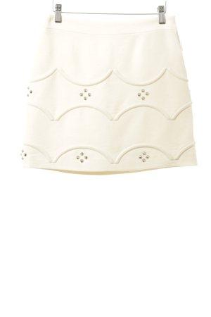R.E.D. Valentino Minifalda crema-color plata look Street-Style