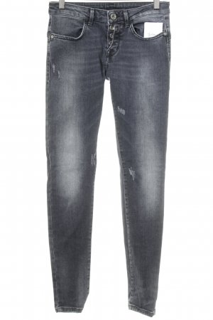 R Jeans Röhrenjeans anthrazit Casual-Look