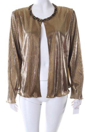 R&K Evening Jacke goldfarben Metallic-Optik