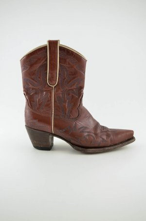 Western Boots bronze-colored-oatmeal leather