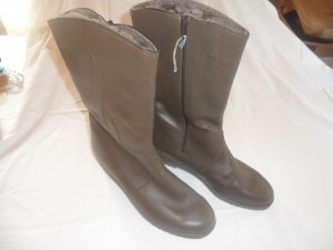 ara Buskins brown red leather