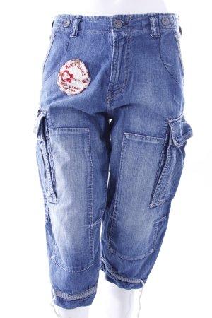 RA-RE Jeans-Pumphose mit Aufnähern