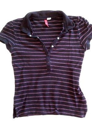Rabatt%schönes Polo-Shirt von DIVIDED by H&M,Gr.34, schwarz mit rosa Streifen