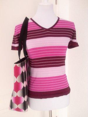 Rabattaktion♥T-Shirt/Top/Bluse (Kurzarm) in pink,rosa,weiß,Gr.S/36