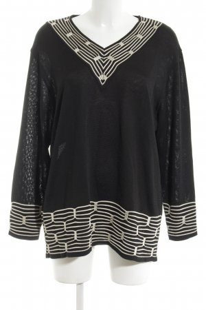 Rabe Crochet Shirt black-white elegant