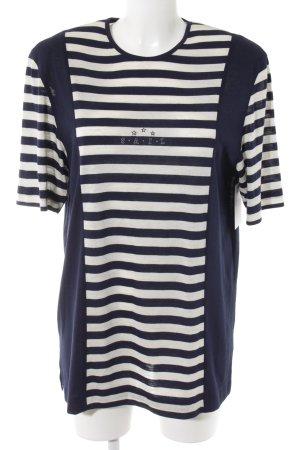 Rabe Longshirt dunkelblau-weiß Ringelmuster Casual-Look