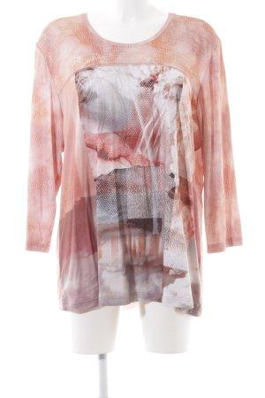 Rabe Longsleeve pink-weiß Mustermix Casual-Look