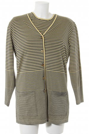 Rabe Sweater Twin Set yellow-blue striped pattern sailor style
