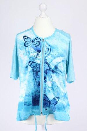 Rabe Shirt mit Reißverschluss türkis Größe 42