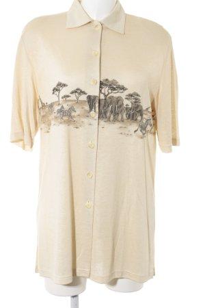 Rabe Chaqueta estilo camisa beige claro-marrón oscuro estampado de animales