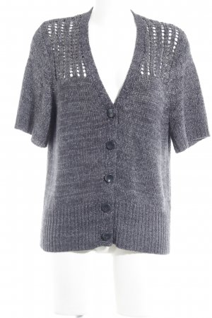 Rabe Strick Cardigan anthrazit-hellgrau meliert Casual-Look