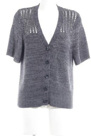 Rabe Cárdigan de punto gris antracita-gris claro moteado look casual