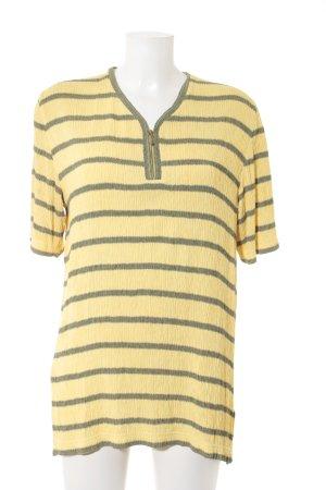 Rabe T-Shirt gelb-schwarz Streifenmuster Casual-Look
