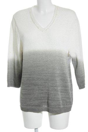 Rabe V-Ausschnitt-Pullover meliert Casual-Look