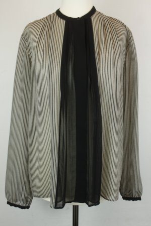 Rachel Roy Bluse Gr. S schwarz grau gestreift oversized