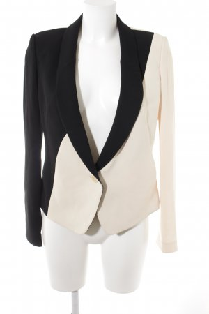 Rachel roy Jerseyblazer schwarz-creme Business-Look