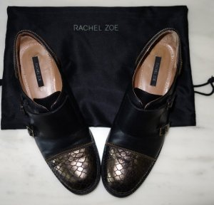 Rachel Zoe Brogues Monks Loafer Gr. 39,5 schwarz Leder Schuhe