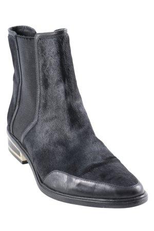 Rachel Zoe Chelsea Boots schwarz-goldfarben Urban-Look