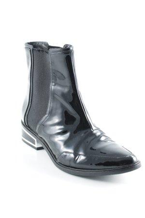 Rachel Zoe Chelsea Boot noir-argenté style décontracté