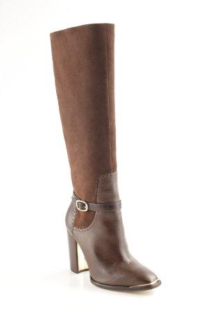 "Rachel Zoe Fellstiefel ""Brin Suede/Croc Leather Boots """