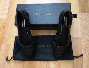 Rachel Zoe Tyler Flats Ballerinas Schuhe Gr. 38/38,5 *neu* Flechtoptik schwarz