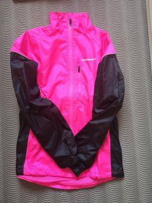 Cortaviento negro-rosa neón