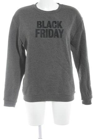 Rad. Sweatshirt dunkelgrau-schwarz Schriftzug gestickt Casual-Look