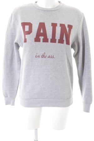 Rad. Sweatshirt hellgrau-rostrot sportlicher Stil