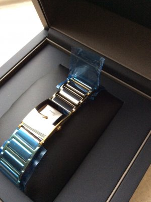 Watch silver-colored-gold-colored stainless steel