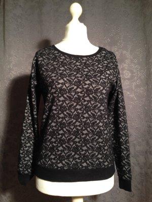 Räumungsverkauf noch 2 Tage !!! Sweatshirt mit abstraktem Spitzenmuster Gr.S