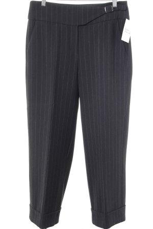 Raffaello Rossi 7/8-Hose schwarz-wollweiß Streifenmuster Business-Look