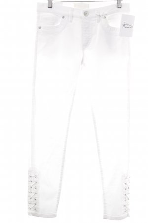 Raffaello Rossi Jeans 7/8 blanc style décontracté