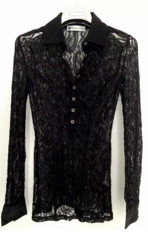 RAFFAELLO ROSSI Abend Gala Bluse aus Spitze | 34/XS schwarz
